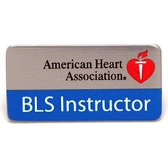 AHA BLS Instructor Label Pin