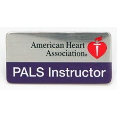 AHA PALS Instructor Label Pin