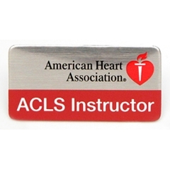 AHA ACLS Instructor Label Pin